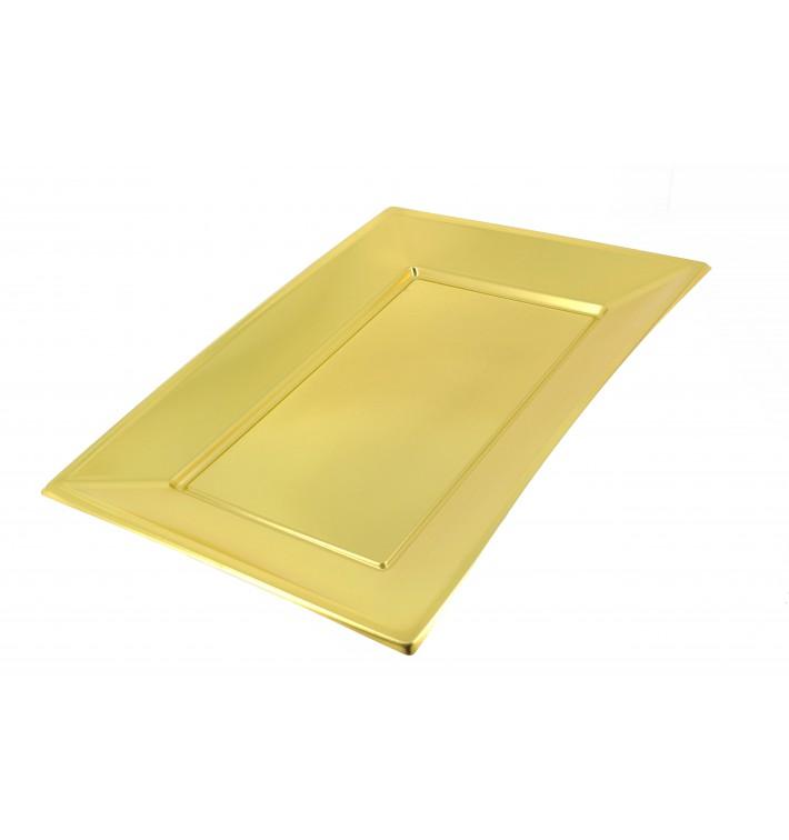 Bandeja de Plástico Oro 330x230mm (360 Uds)