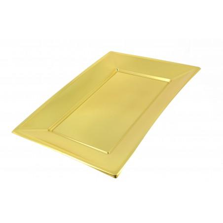 Bandeja de Plástico Oro 330x225mm (90 Uds)