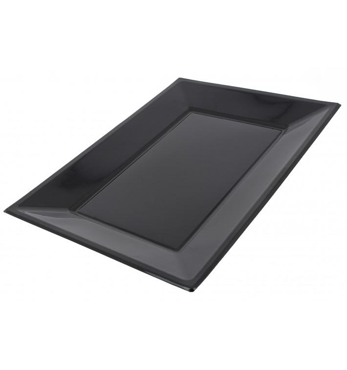 Bandeja de Plastico Negro 330x225mm (3 Uds)