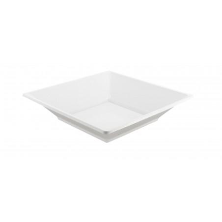 Plato de Plastico Hondo Cuadrado Blanco 170mm (375 Uds)