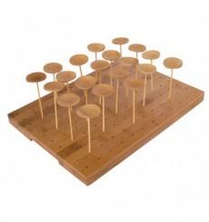 Bandeja de Bambu para Pinchos 25x30x1,3cm (20 Uds)