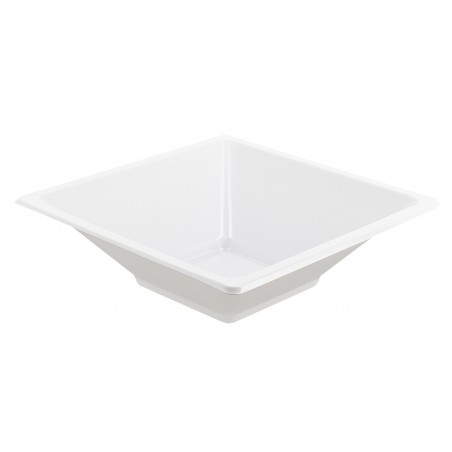 Bol de Plastico Cuadrado Blanco 120x120x40mm (360 Uds)