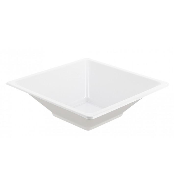 Bol de Plástico PS Cuadrado Blanco 12x12cm (25 Uds)