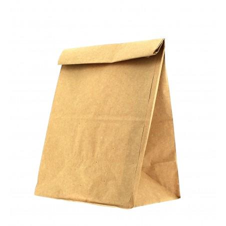 Bolsa de Papel Sin Asas Kraft Marron 16+9x28cm (25 Uds)