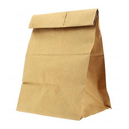 Bolsa de Papel SIN Asas KRAFT 23+13x37cm (Caja 700 Unidades)