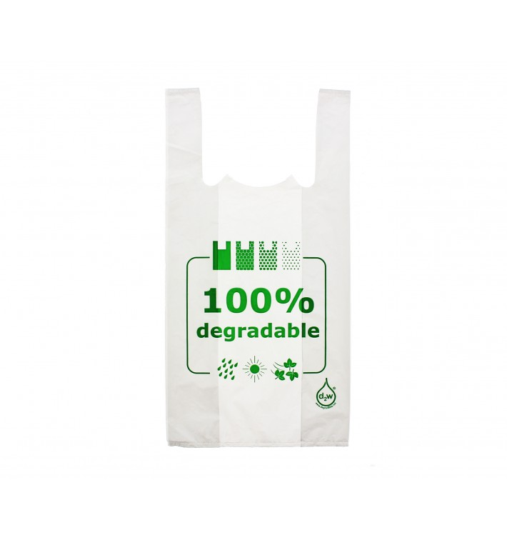 Bolsa Plastico Camiseta 100% Degradable 35x50cm (2000 Uds)