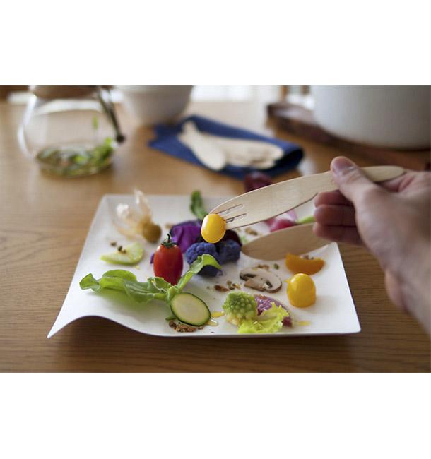 Plato Wasara Biodegradable Kaku S (100 uds)