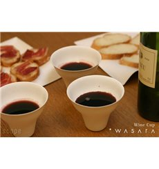 Vaso Wasara Wine Cup Biodegradable 260 ml (50 uds)
