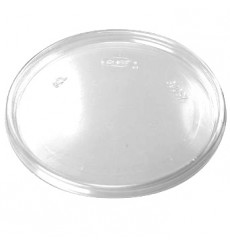 Tapa Plana de Plastico Transparente 105mm (100 Uds)