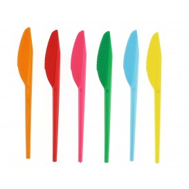 Cuchillo de Plastico PS Naranja 165 mm (900 Uds)