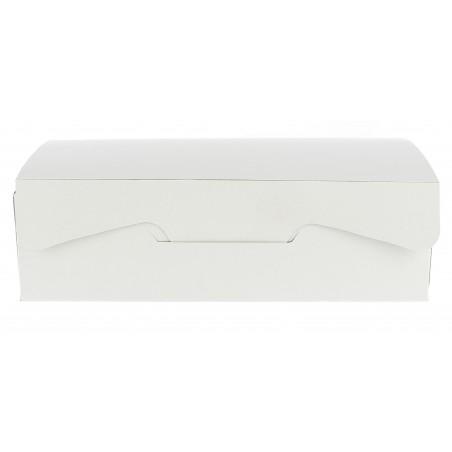 Caja Pasteleria Carton 18,2x13,6x5,2cm 500g. Blanca (5 Uds)