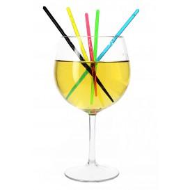 Agitador para Bebidas de Plástico Fluorescente 175mm (100 Uds)