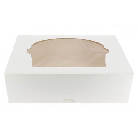 Caja 6 Cupcakes con Soporte 24,3x16,5x7,5cm Blanca(20Uds)