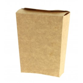 Envase Kraft Cerrado para Fritas (25 Uds)