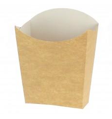 Caja Kraft para Fritas Mediana 8,2x3,5x12,5cm (25 Uds)