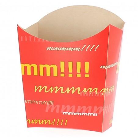 Envase Carton Fritas Grande 10,0x10,0x13,5cm (Paq.40 unid.)