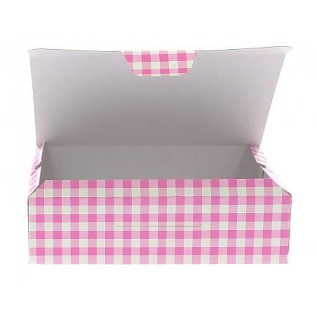 Caja Pasteleria Carton 17,5x11,5x4,7cm 250g. Rosa (360 Uds)