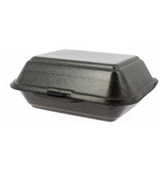Envase Foam LunchBox Negro 185x155x70mm (500 Uds)