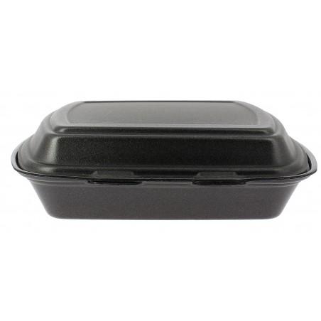 Envase Foam MenuBox 1C. Negro 240x210x70mm (50 Uds)