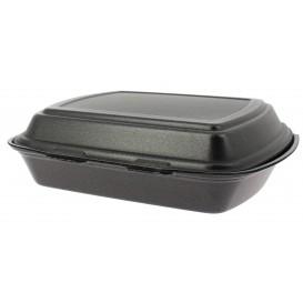Envase Foam MenuBox 1C. Negro 240x210x70mm (200 Uds)