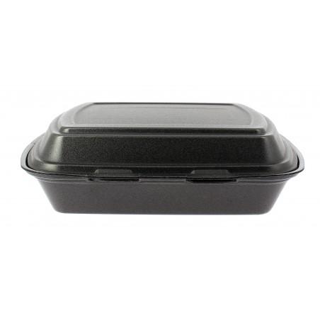 Envase Foam MenuBox 3 C. Negro 240x210x70mm  (200 Uds)