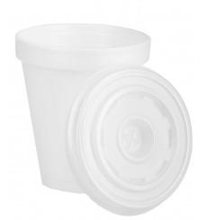 Vaso Termico Foam EPS 6Oz/180ml Blanco + Tapa (1.000 Uds)