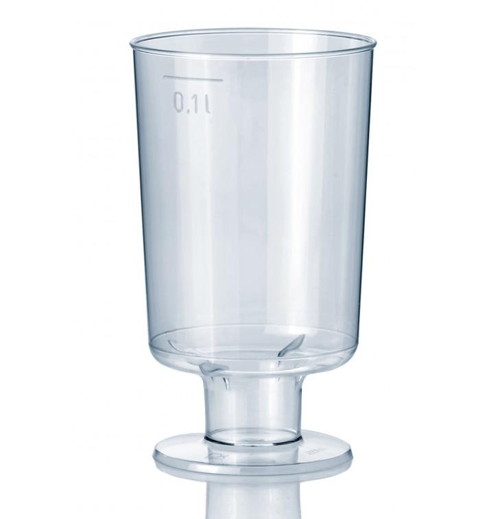 Copa de Plastico con Pie 100 ml (600 Uds)
