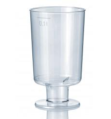 Copa de Plastico con Pie 100 ml (600Uds)
