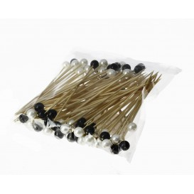 Pinchos de Bambu Decorados Perla 120 mm (100 Uds)