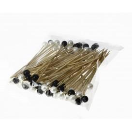 Pinchos de Bambu Decorados Perla 120 mm (10000 Uds)