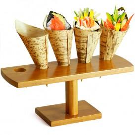 Stand de Bambú para Cucurucho 5 Huecos (1 Ud)