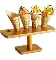 Stand de Bambú para Cucurucho 5 Huecos (10 Uds)