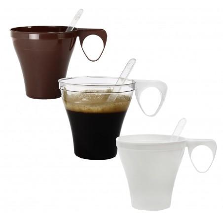 Taza de Plastico Marron 80ml (1200 Unidades)