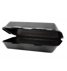 Envase Foam LunchBox Negro 240x155x70mm (500 Uds)