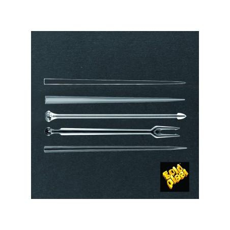 Pick de Plastico Snack Stick Transparente 90 mm (1650 Unidades)