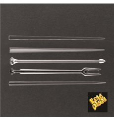 Pick de Plastico Snack Stick Transparente 90 mm (6600 Uds)