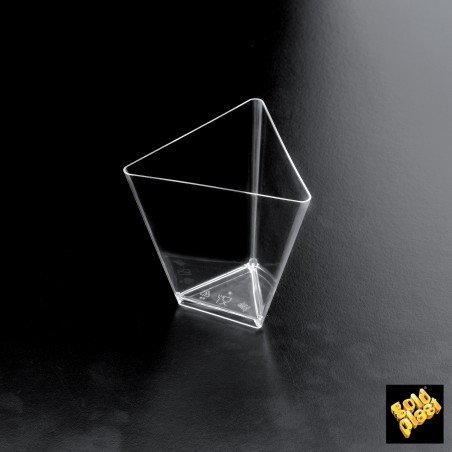Vaso Degustacion Triangle Transparente 70 ml (25 Unidades)