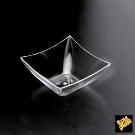 Bol Degustacion Square Mini Dish Transp. 70x70x35 mm (25 Uds)