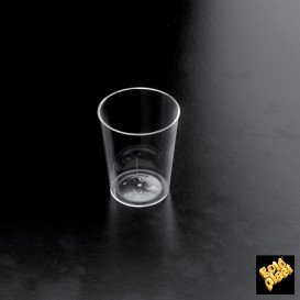 """Vaso para Licor """"Conical"""" Plastico Transparente 50 ml (25 Unidades)"""