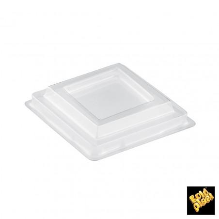 Tapa Bol Diamond-Shaped Transp. PET 6,3cm (25 Uds)