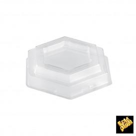 Tapa Bol Tulip Dessert Transparente PET Ø8cm (25 Uds)