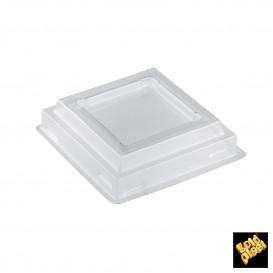 Tapa Bol Onda Dessert Transparente PET 6,6 cm (25 Uds)