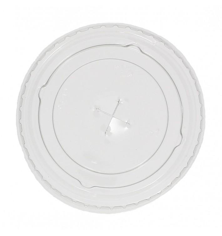 Tapa Plana con Cruz PET Cristal Ø7,3cm (2.500 Uds)
