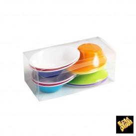 """Bol de Plástico """"Sodo"""" Blanco y Multicolor 50 ml (160 Unidades)"""
