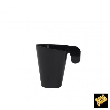 Taza de Plastico Degustacion Design Negra 72ml (12 Uds)