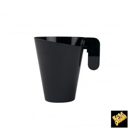 Taza de Plastico Degustacion Design Negra 155ml (12 Uds)