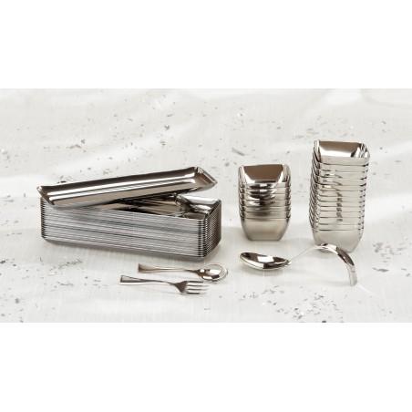 Cucharilla de Plastico Metalizada 130mm (1.000 Uds)