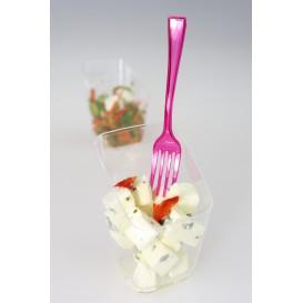Tenedor de Plastico Premium Frambuesa 190 mm (10 Uds)