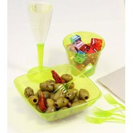 Tenedor de Plastico Premium Verde 190 mm (10 Uds)
