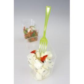 Tenedor de Plastico Premium Verde 190mm (180 Uds)